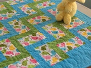 Baby Blanket - Blue by  Della Cronkrite