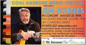 Jim Byrnes @ PAL Studio Theatre Aug 23 2018 - Mar 22nd @ PAL Studio Theatre