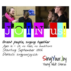 SINGYOURJOY CHORUS SEPTEMBER START-UP