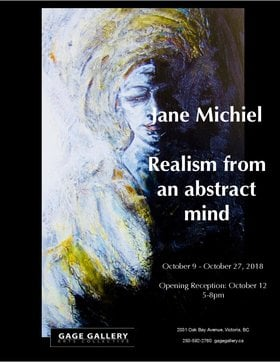 Realism from an Abstract Mind: Jane Michiel @ Gage Gallery Arts Collective Oct 9 2018 - Oct 30th @ Gage Gallery Arts Collective