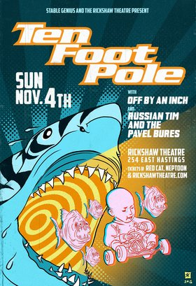 ten foot pole, OFF BY AN INCH, Russian Tim & Pavel Bures @ Rickshaw Theatre Nov 4 2018 - Feb 20th @ Rickshaw Theatre