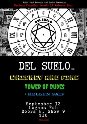 Del Suelo, The Tower of Dudes, Whiskey and Fire, Kellen Saip @ Logan's Pub Sep 13 2018 - Nov 25th @ Logan's Pub
