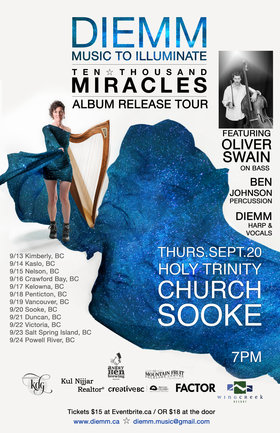 Album Release Concert: Ten Thousand Miracles: Diemm, Oliver Swain @ Holy Trinity Anglican Church (Sooke Folk Club) Sep 20 2018 - Jan 23rd @ Holy Trinity Anglican Church (Sooke Folk Club)