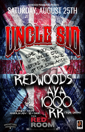 Uncle Sid, Redwoods, Aya1000rr  (Japan) @ The Red Room Aug 25 2018 - Mar 22nd @ The Red Room