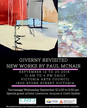 Giverny Revisted - New Works by Paul McNair: Paul McNair @ Victoria Arts Council Sep 12 2018 - Dec 12th @ Victoria Arts Council