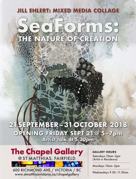 SeaForms: The Nature of Creation: Jill Ehlert @ The Chapel Gallery Sep 21 2018 - Jan 22nd @ The Chapel Gallery