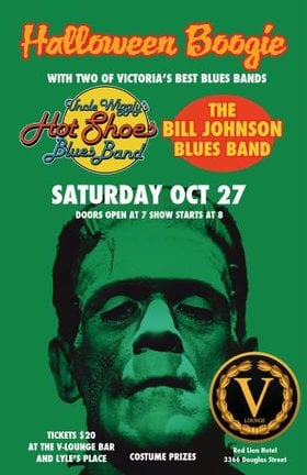 Halloween Boogie: Uncle Wigglys Hot Shoes Blues Band, The Bill Johnson Blues Band @ V-lounge Oct 27 2018 - Jan 22nd @ V-lounge