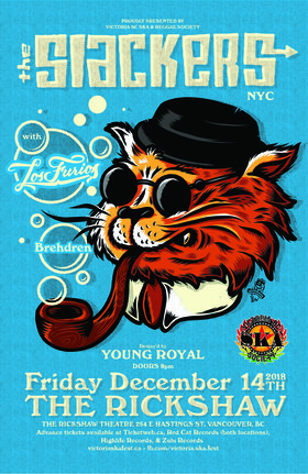 THE SLACKERS - BROOKLYN NY'S SKA/REGGAE KINGS RETURN TO VANCOUVER!: The Slackers, Los Furios, Brehdren, Young Royal  @ Rickshaw Theatre Dec 14 2018 - Feb 20th @ Rickshaw Theatre