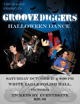 Groove Diggers Halloween Dance: Groove Diggers, Tomo Vranjes, Jeff Weaver @ White Eagle Polish Hall Oct 27 2018 - Mar 28th @ White Eagle Polish Hall
