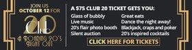 Club 20 @ Union Club Oct 12 2018 - Oct 28th @ Union Club