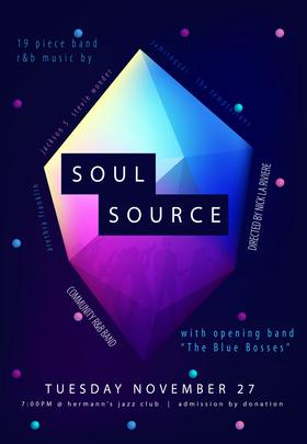 Soul Source @ Hermann's Jazz Club Nov 27 2018 - Oct 28th @ Hermann's Jazz Club