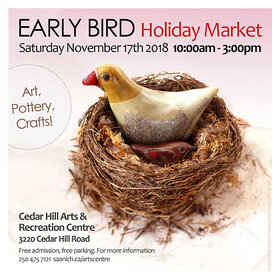 Early Bird Holiday Market: Cedar Hill Studio Artists @ The Arts Centre at Cedar Hill  Nov 17 2018 - Jul 14th @ The Arts Centre at Cedar Hill