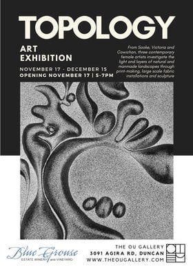 Art Exhibition: Topology: Janine Duns, Marina DiMaio, Roxanne Martin @ The Ou Gallery Nov 17 2018 - Dec 16th @ The Ou Gallery