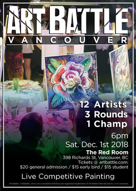 Art Battle Vancouver - December @ The Red Room Dec 1 2018 - Feb 17th @ The Red Room