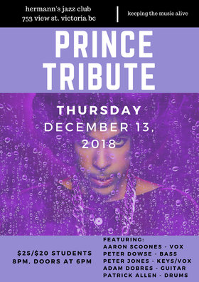 Prince Tribute @ Hermann's Jazz Club Dec 13 2018 - Jan 22nd @ Hermann's Jazz Club