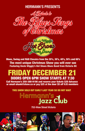 Uncle Wiggly's Christmas Show @ Hermann's Jazz Club Dec 21 2018 - Jan 22nd @ Hermann's Jazz Club