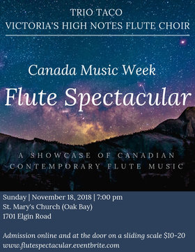 Canada Music Week: Flute Spectacular @ St. Mary's Anglican Church Nov 18 2018 - Jun 6th @ St. Mary's Anglican Church