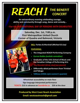 Reach! The Benefit Concert @ First Metropolitan United Church Dec 1 2018 - Apr 20th @ First Metropolitan United Church