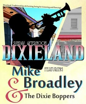 Mike Broadly and the Dixie Boppers @ Hermann's Jazz Club Dec 9 2018 - Jan 22nd @ Hermann's Jazz Club