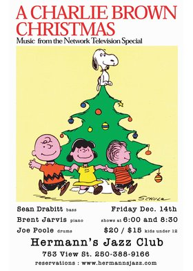 Sean Drabitt: Charlie Brown's Christmas @ Hermann's Jazz Club Dec 14 2018 - Jan 22nd @ Hermann's Jazz Club