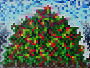 Tomato Mountain Pixels by  Peter Allen