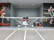 Captain Steve\'s Cessna 182 hangar. photo: Lotus Johnson by  Peter Allen