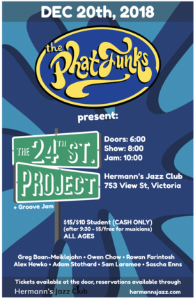 The Phatfunks @ Hermann's Jazz Club Dec 20 2018 - Jan 22nd @ Hermann's Jazz Club