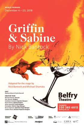 Griffin & Sabine @ Belfry Theatre Dec 23 2018 - Feb 22nd @ Belfry Theatre