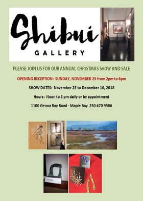 Shibui annual x-mas show and sale @ Shibui Gallery Nov 25 2018 - Dec 16th @ Shibui Gallery