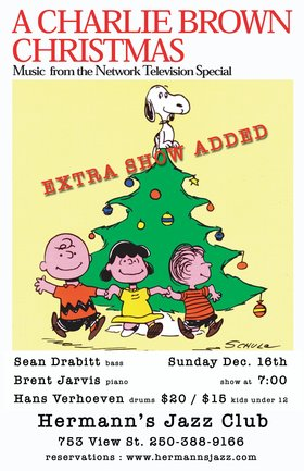 Sean Drabitt: Charlie Brown's Christmas @ Hermann's Jazz Club Dec 16 2018 - Jan 22nd @ Hermann's Jazz Club