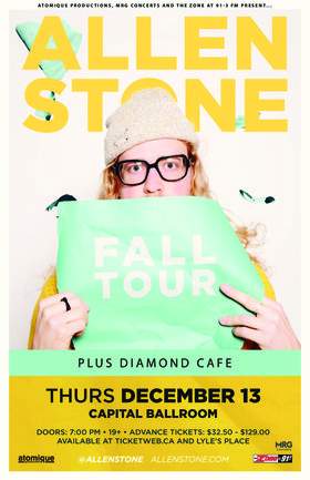 Allen Stone, Diamond Cafe @ Capital Ballroom Dec 13 2018 - Aug 9th @ Capital Ballroom