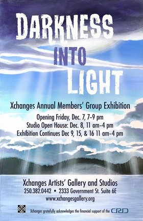 DARKNESS into LIGHT: XCHANGES MEMBERS @ Xchanges Gallery Dec 8 2018 - Feb 25th @ Xchanges Gallery