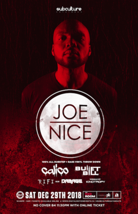The last SUBculture of 2018 feat JOE NICE 100% Vinyl night! @ The Red Room Dec 29 2018 - Feb 17th @ The Red Room