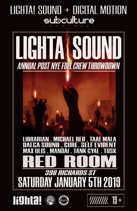 Lighta! SOUND FULL CREW JAM at SUBculture Saturday's @ The Red Room Jan 5 2019 - Feb 17th @ The Red Room