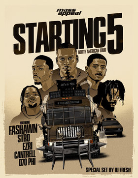 Mass Appeal Starting 5 Tour: Fashawn, Stro, Ezri, Cantrell, 070 Phi @ The Biltmore Cabaret Feb 12 2019 - Aug 22nd @ The Biltmore Cabaret