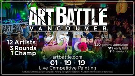 Art Battle Vancouver - January 19 @ The Red Room Jan 19 2019 - Feb 17th @ The Red Room