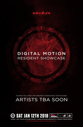 Digital Motion showcase vol4 at SUBculture Saturday's @ The Red Room Jan 12 2019 - Feb 17th @ The Red Room