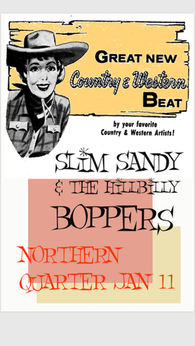 Slim Sandy and the Hillbilly Boppers @ Northern Quarter Visual Arts Exhibitions Jan 11 2019 - Dec 8th @ Northern Quarter Visual Arts Exhibitions