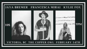 Jay Bremer, Francesca Mirai, Kylie Fox @ Copper Owl Feb 14 2019 - Oct 18th @ Copper Owl