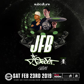 JFB, DJ QBert  @ The Red Room Feb 23 2019 - Apr 19th @ The Red Room