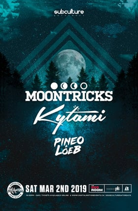 MOONTRICKS, Kytami, Pineo & Loeb @ The Red Room Mar 2 2019 - Aug 22nd @ The Red Room