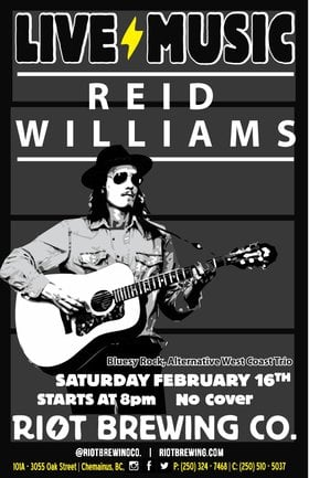 Reid Williams @ Riot Brewing Co. Feb 16 2019 - Apr 26th @ Riot Brewing Co.