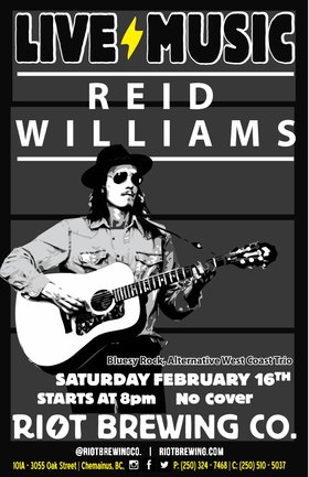 Reid Williams @ Riot Brewing Co. Feb 16 2019 - Mar 18th @ Riot Brewing Co.
