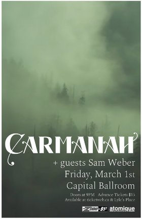 Carmanah, Sam Weber @ Capital Ballroom Mar 1 2019 - Apr 4th @ Capital Ballroom