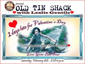 The Old Tin Shack, Leslie Gentile,  (vocals), Gino Marrelli,  (featuring) @ Gorge-ous Coffee Feb 16 2019 - Feb 18th @ Gorge-ous Coffee