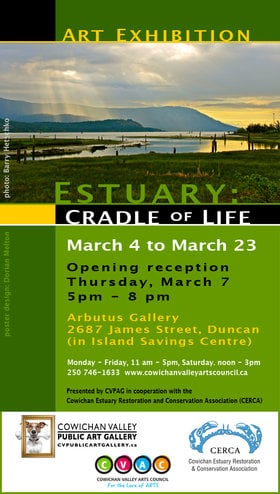 "Art Show - ""Estuary: Cradle of Life"" @ Island Savings Centre Mar 4 2019 - Mar 20th @ Island Savings Centre"