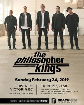 The Philosopher Kings, Stevie Wise & The Big Feelings @ Distrikt May 7 2019 - Jun 1st @ Distrikt