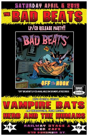 """Off the Hook"" LP/CD release ft: The Bad Beats, The Vampire Bats, Herb and the Humans @ Railway Club Apr 6 2019 - Feb 24th @ Railway Club"
