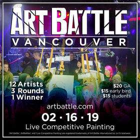 Art Battle Vancouver - February @ The Red Room Feb 16 2019 - Feb 17th @ The Red Room