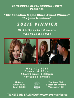 Suzie Vinnick, Harris & DeBray @ The Anza Club May 17 2019 - Apr 25th @ The Anza Club